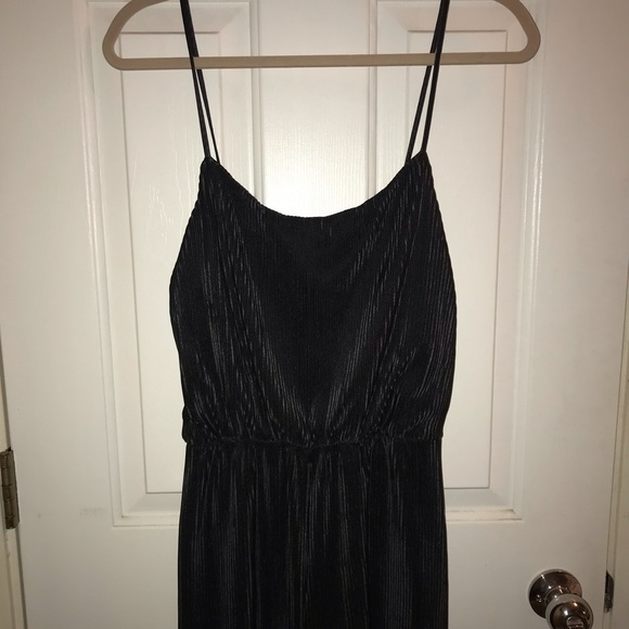 Forever 21 Other - Black ribbed silky jumpsuit